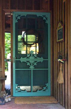 Front door with vintage screen