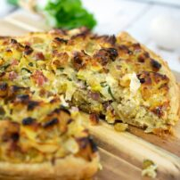 Savory Leek, Raisin and Ricotta Tart