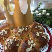 Epiphany Kings bread ready to serve