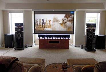 JVC DLA-RS4500K 4K laser projector, Screen Innovations 100-inchMotorized Slate projector screen, Lyngdorf MP-60 audio/video processor, four Aesthetix Atlas monoblock amplifiers, a pair of Focal Stella Utopia EM speakers, two JL Audio Gotham G213v2 subwoofers and Nordost cable are just some of the products in this amazing Dolby Atmos theater and music listening system.