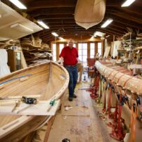 Robert Niclas Jr boats in shop 2020 (Photo courtesy Robert Niclas)