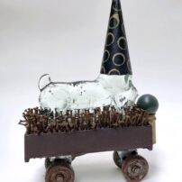 """""""The Wizard of Odds,"""" received the 2019 Juror's Award in the Small Expressions exhibit at Northwest Arts Gallery, Port Townsend (Photo courtesy Diane Haddon)"""