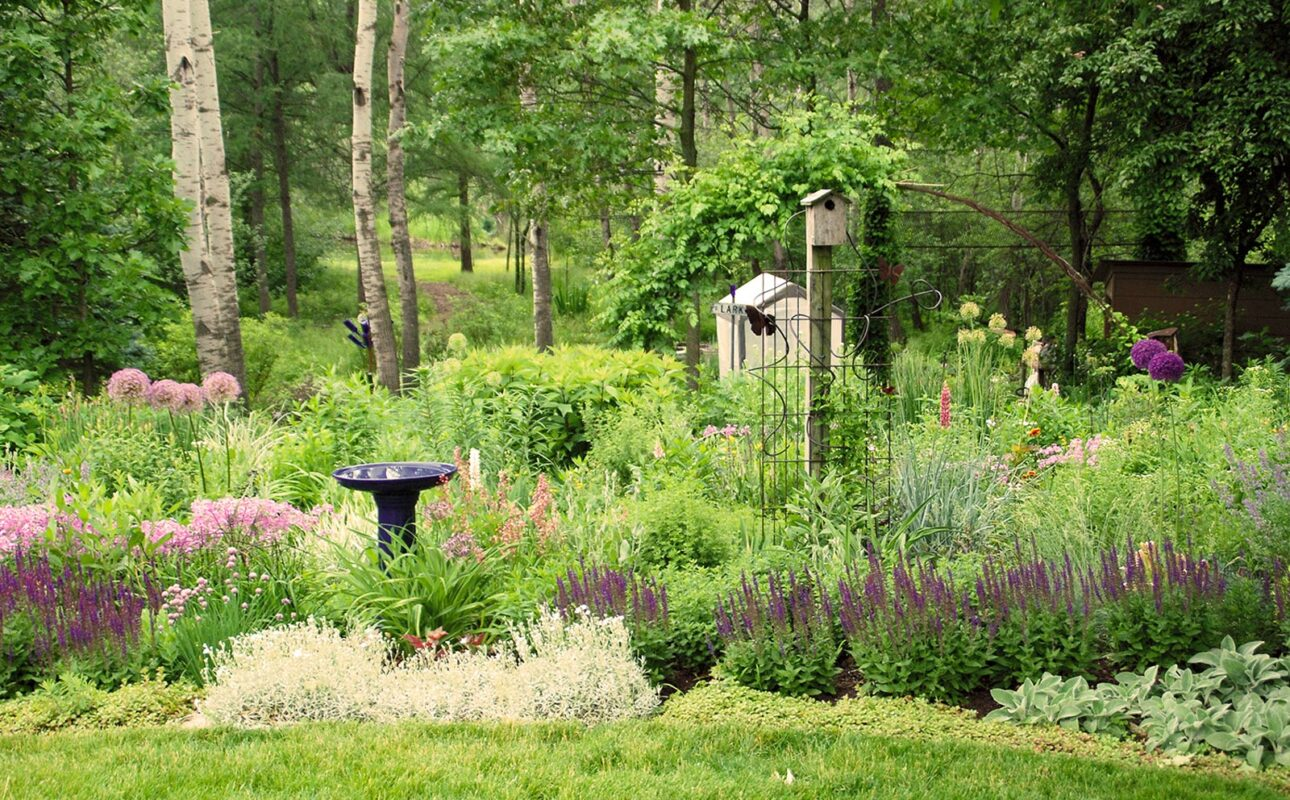 Include habitat features in your garden and landscape that are needed to attract and sustain the wildlife you are trying to attract. (Photo courtesy of MelindaMyers.com)