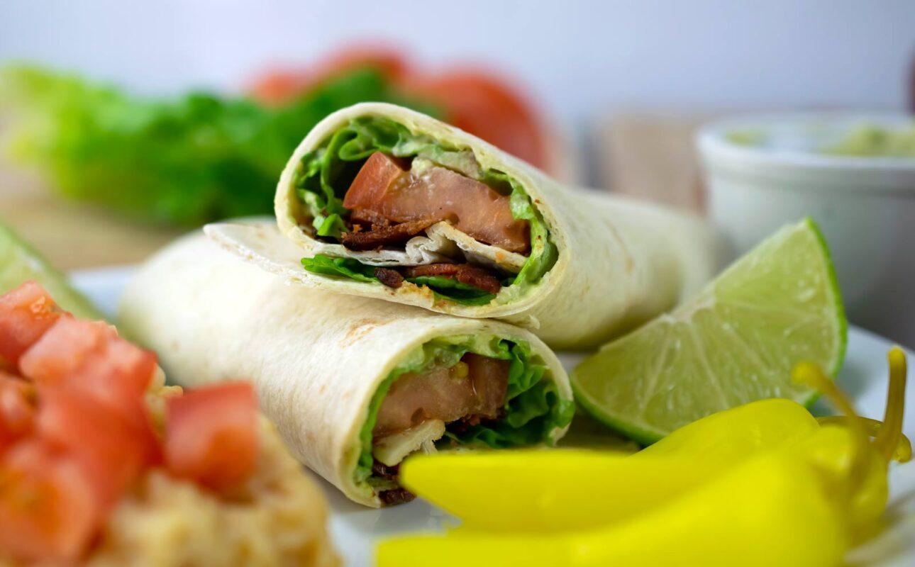 BLT Wrap with Avocado Spread