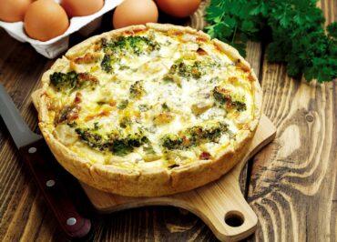 Cheesy Bacon-Broccoli Quiche