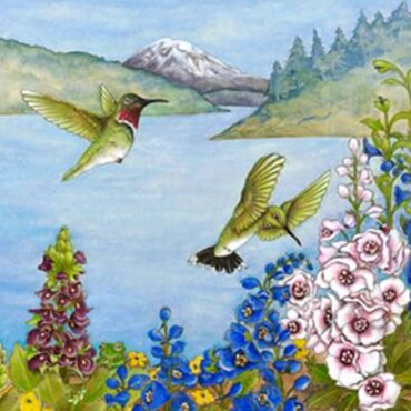 """Anna Botanica,"" watercolor by Kathy Thurston"