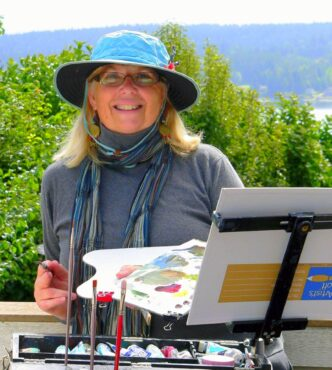 Anne Knapp painting en plein aire