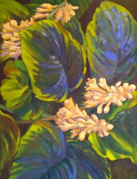 """""""Hosta in Bloom,"""" watercolor by Anne Knapp"""