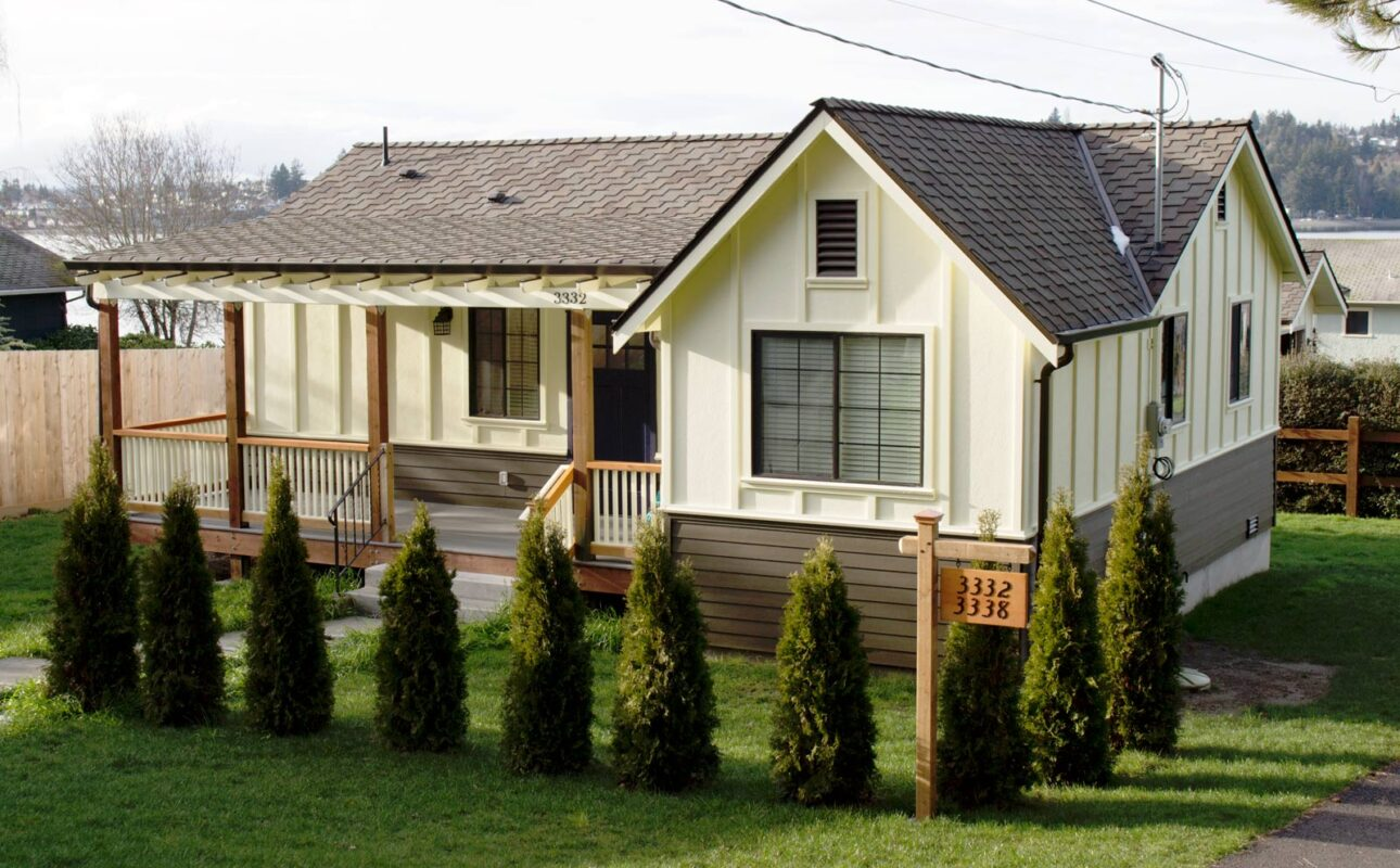 The remodeled guest house