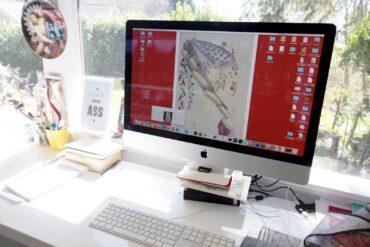 Creative work station in Fago's studio