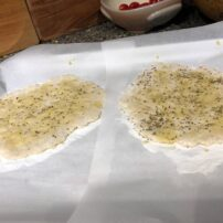 Flat breads ready for the grill