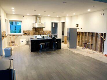 Full kitchen remodel begins.