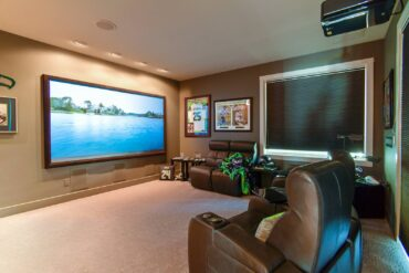 This beautiful home theater system by Nuts About Hi-Fi is both visually and audibly stunning.