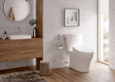 Toto two-piece, skirted Aquia IV Arc Washlet+ in cotton white