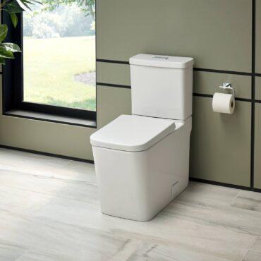 GROHE ultra-modern, dual-flush, skirted Eurocube in white