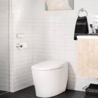Moen one-piece, tankless E Toilet 100 in white