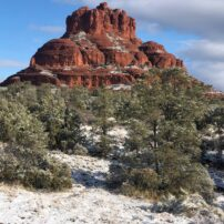 Bell Rock in the snow