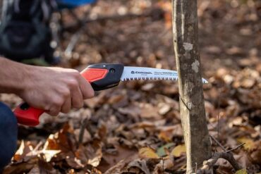 A seven-inch RazorTooth folding saw is perfect for removing small or medium sized dead or diseased branches from shrubs and small trees in the fall. (Photo courtesy Corona-Tools)
