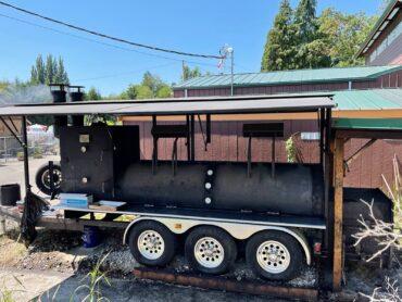 Wigwam Tavern's custom-built smoker