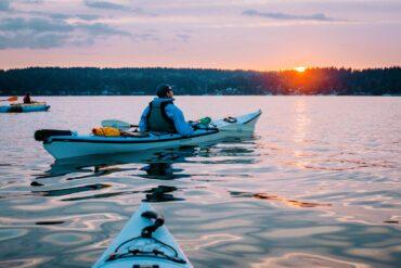 One of Vashon Adventures' evening tours in Quartermaster Harbor (Photo courtesy Elise Giordano Photography)